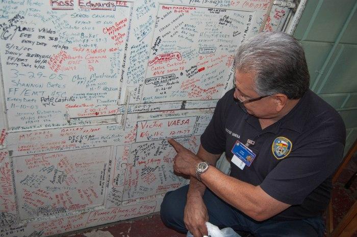 Where he signed his name