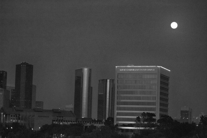Houston Night Time Skyline