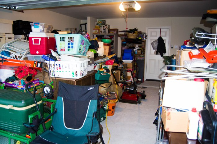All this has to go in the house, get donated or be sold at a garage sale