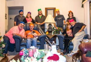 This was a friends and family Christmas dinner. My daughters family (Erin, Jon and Elliott)missed this one!